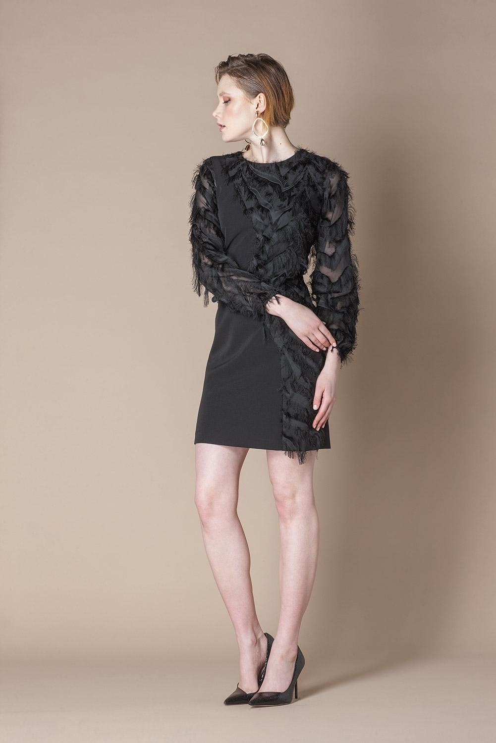 SCRIPTA DRESS 195033  COLOR BLACK