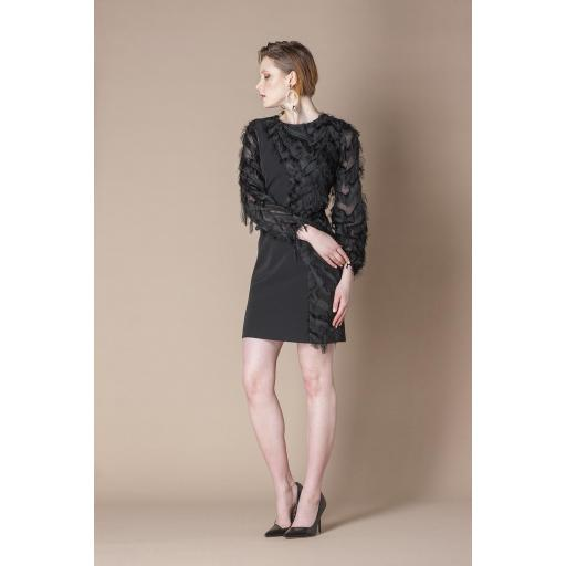 SCRIPTA DRESS 195033  COLOR BLACK [0]