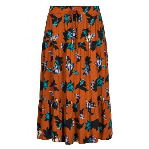 DENIM HUNTER MODELO DH VIVIANA SKIRT REF 10702369 COLOR 36518 GINGER PRINT