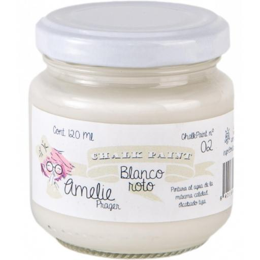 CHALK PAINT AMELIE  120ML COLOR 02 BLANCO ROTO