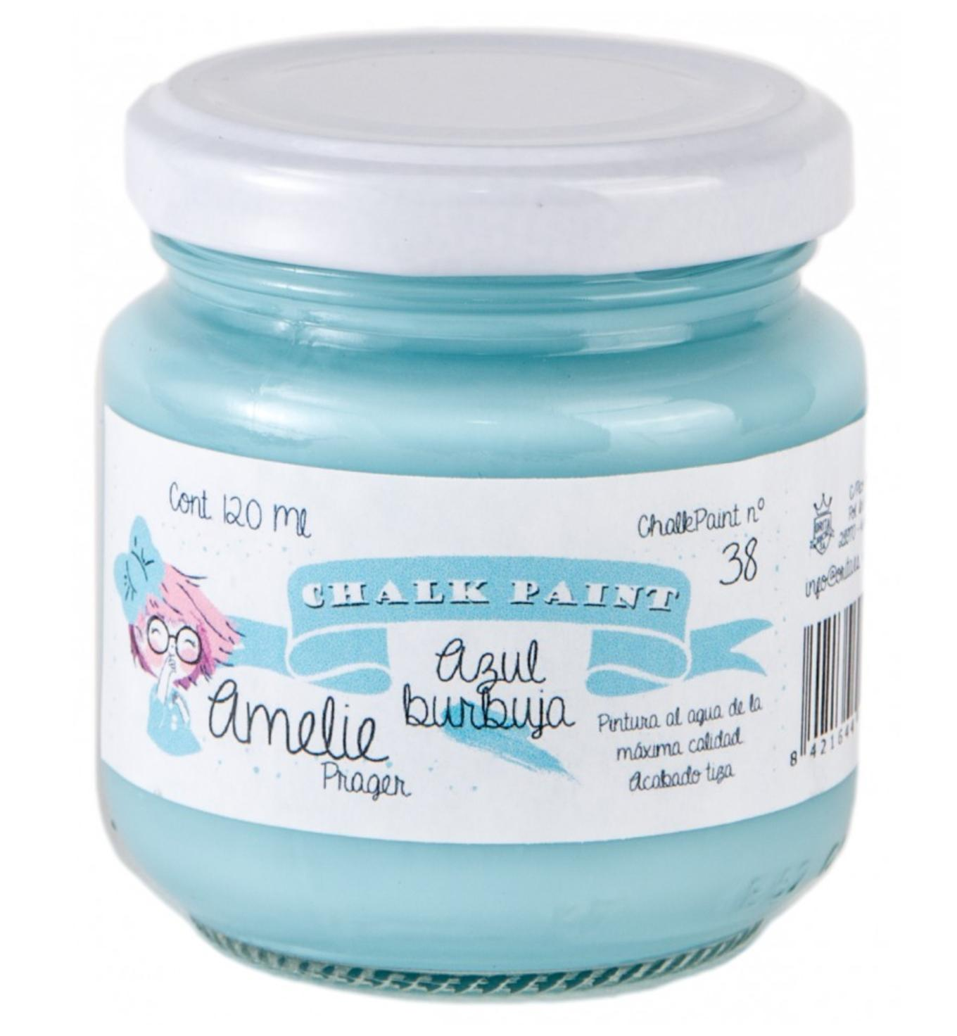 CHALK PAINT AMELIE  120ML COLOR 38 AZUL BURBUJA