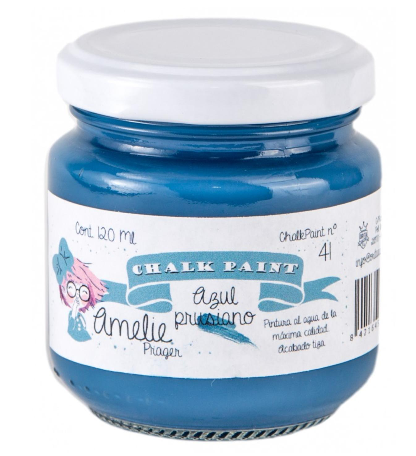 CHALK PAINT AMELIE  120ML COLOR 41 AZUL PRUSIANO