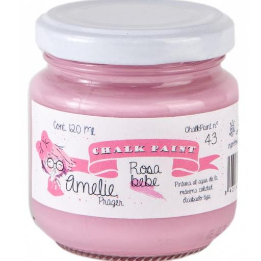 CHALK PAINT AMELIE  120ML COLOR 43 ROSA BEBE