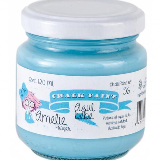 CHALK PAINT AMELIE  120ML COLOR 56 AZUL BEBE