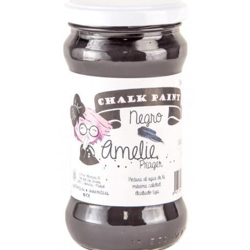 CHALK PAINT AMELIE  280ML COLOR 25 NEGRO