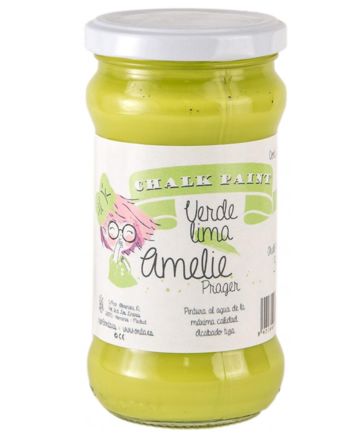 CHALK PAINT AMELIE  280ML COLOR 34 VERDE LIMA
