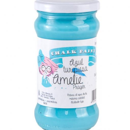 CHALK PAINT AMELIE  280ML COLOR 39 AZUL TURQUESA