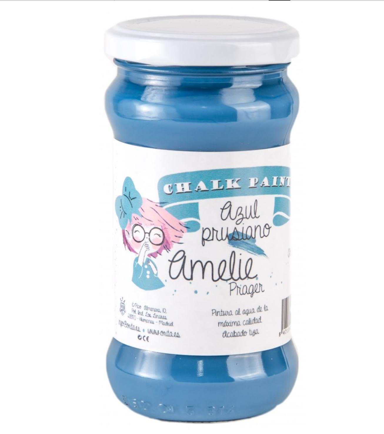 CHALK PAINT AMELIE  280ML COLOR 41 AZUL PRUSIANO