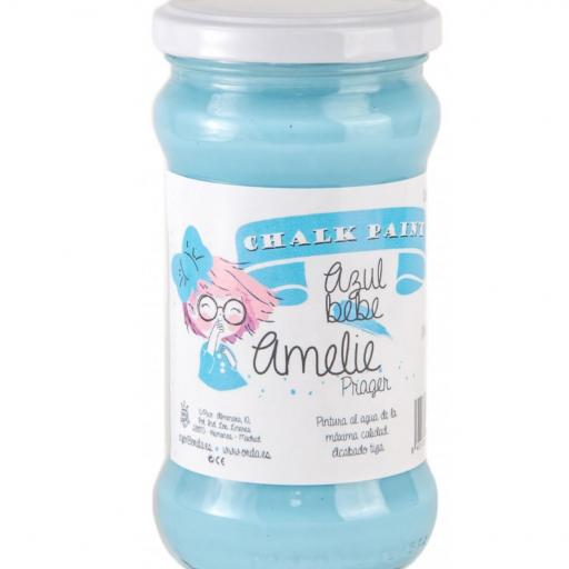 CHALK PAINT AMELIE  280ML COLOR 56 AZUL BEBE