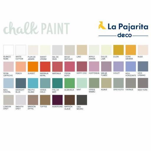La Pajarita Pintura de tiza Chalk Paint White Cotton [1]
