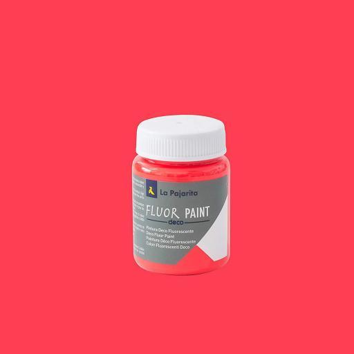 DECO FLUOR PAINT COLOR RED 75ML