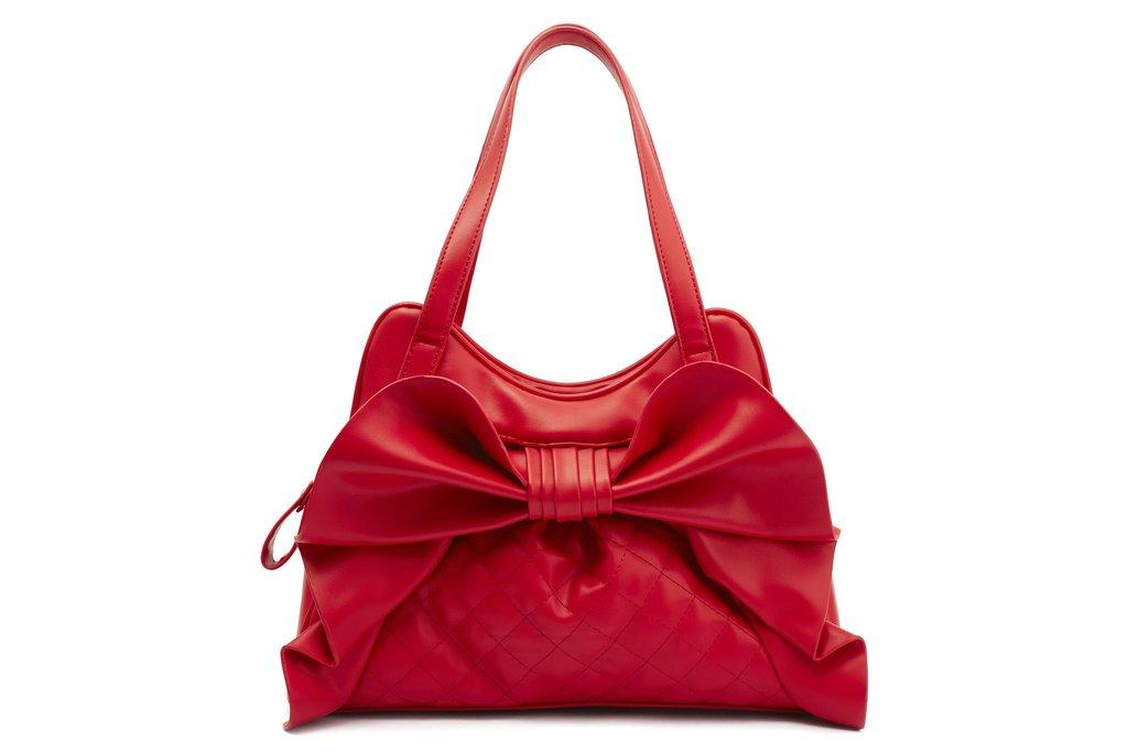 DRAPER QUILTED RED BAG (LOLA RAMONA - BETTIE PAGE)
