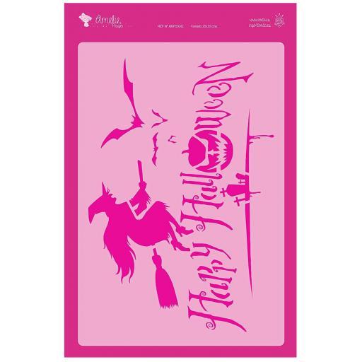 FONDO HALLOWEEN AMELIE STENCIL -03042   20X30CM
