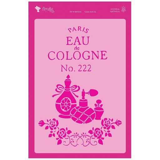 FONDO PARIS EAU DE COLOGNE   AMELIE STENCIL -03019  20X30CM