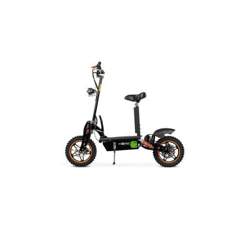 ASPIDE - PATINETE-SCOOTER ELECTRICO ESTILO MOTO, PLEGABLE Y MOTOR 2000W. COLOR NEGRO -NARANJA - Referencia: CHES-001B/NEGRO-NARANJA [1]
