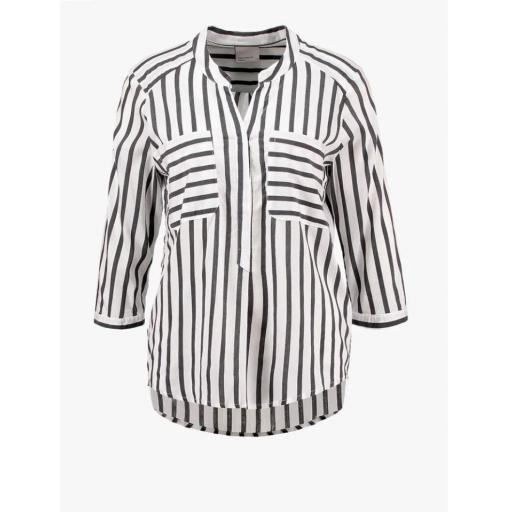 VERO MODA MODELO VMERIKA STRIPE 3-4 SHIRT TOP EIO NOOS COLOR SNOW WHITE BLACK REFERENCIA 10168581