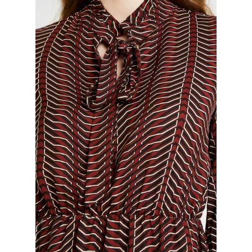 VERO MODA MODELO VM ZENAC LS SHORT DRESS WVN CURVE  COLOR MADDER BROWN ZENAC  REFERENCIA 10227147  [1]