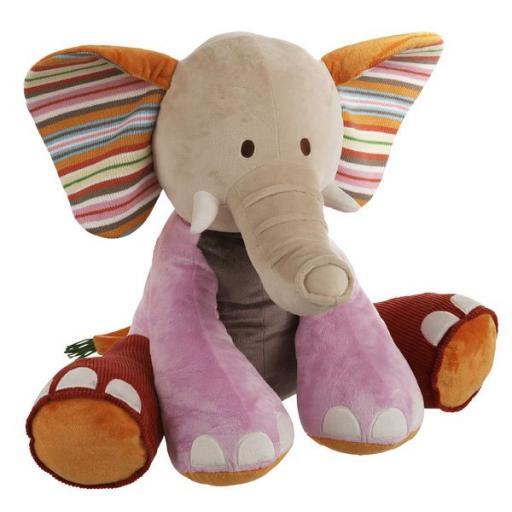 HAPPY HORSE rainbow-elefante-peluche-60-cm