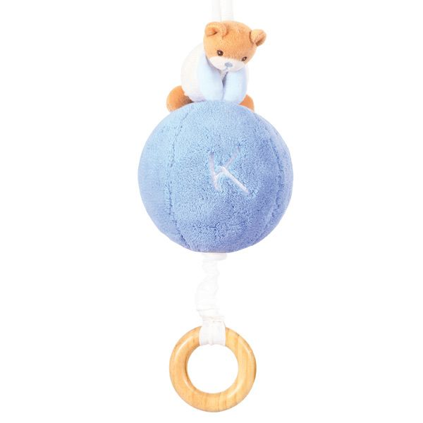 KALOO PLUME MUSICAL BALL WITH STRING BLUE 23cm 4636462
