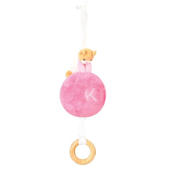 KALOO plume-musical-ball-with-string-pink-23cm  9636479