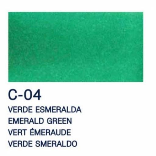 LA PAJARITA PINTURA L.T. CRISTAL COLOR VERDE ESMERALDA 50ML