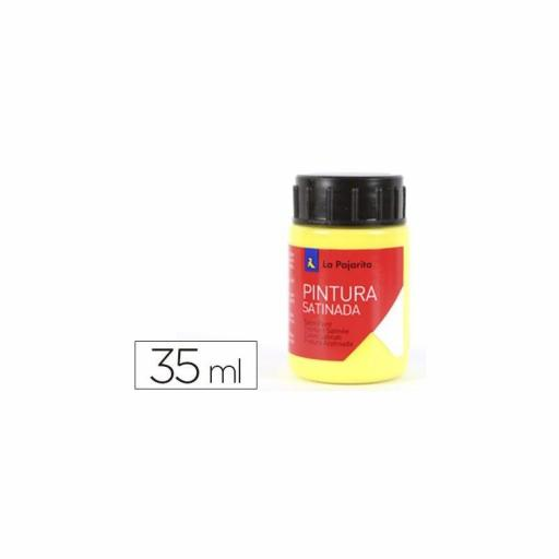 LA PAJARITA PINTURA SATINADA COLOR AMARILLO LIMON 35ML