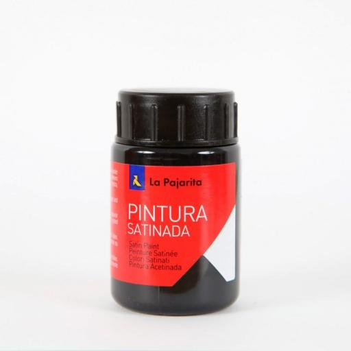 LA PAJARITA PINTURA SATINADA COLOR NEGRO 35ML