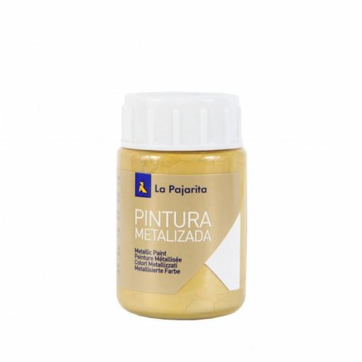 LA PAJARITA PINTURA SATINADA COLOR ORO RICO 35ML