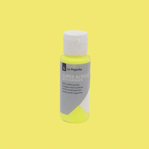 PINTURA LA PAJARITA SUPER ACRYLIC COLOR AMARILLO LIMON 60ML