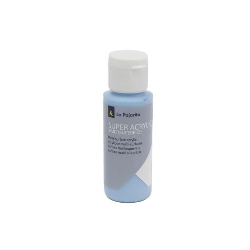 PINTURA LA PAJARITA SUPER ACRYLIC COLOR AZUL BEBE 60ML