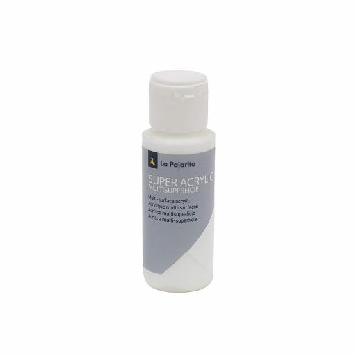 PINTURA LA PAJARITA SUPER ACRYLIC COLOR BLANCO 60ML