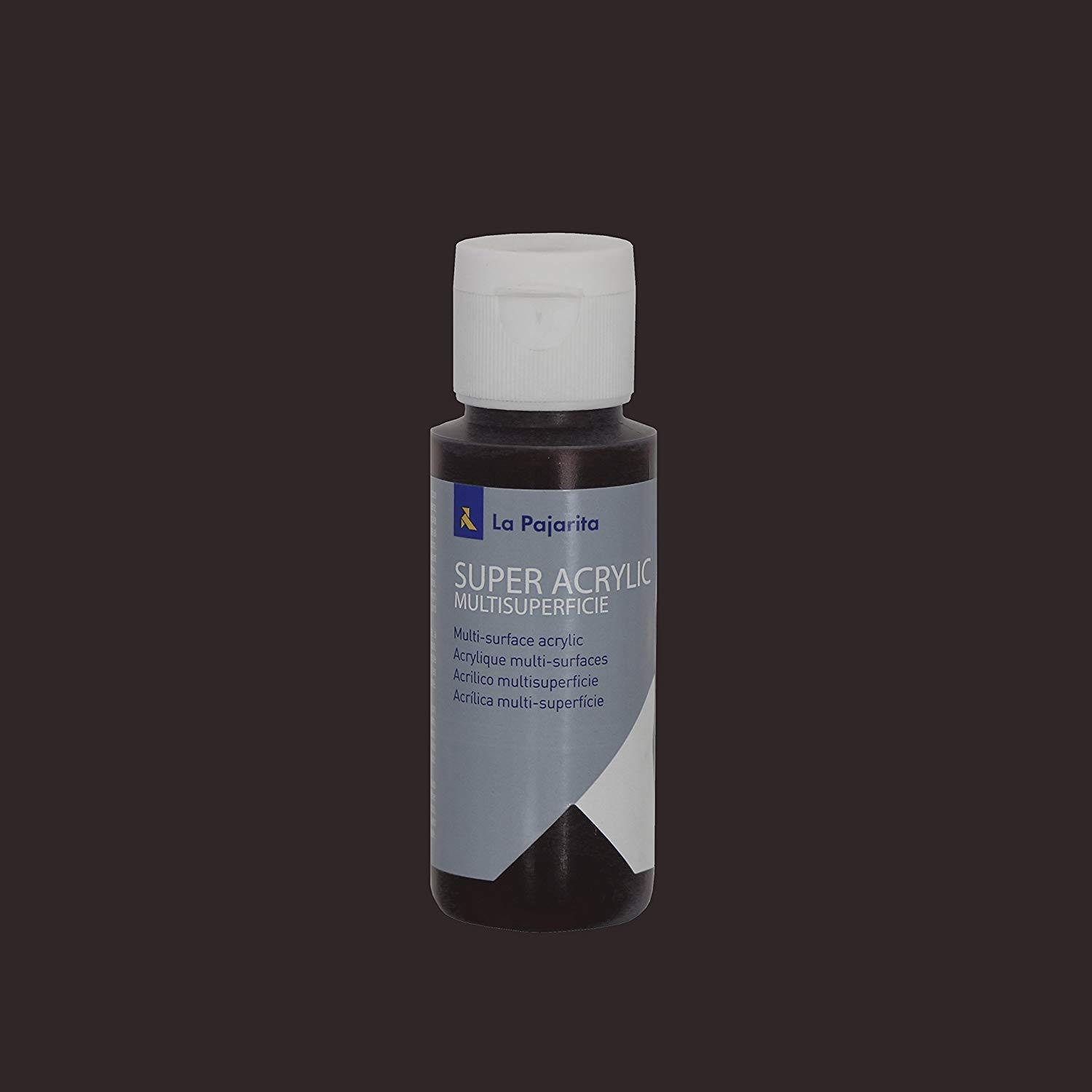 PINTURA LA PAJARITA SUPER ACRYLIC COLOR CHOCOLATE OSCURO 60ML