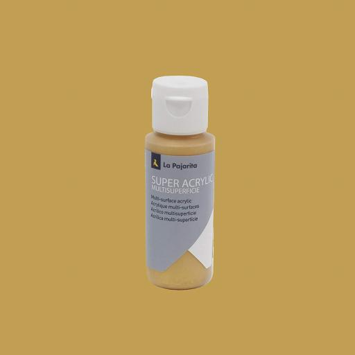 PINTURA LA PAJARITA SUPER ACRYLIC COLOR ORO REAL 60ML