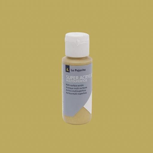 PINTURA LA PAJARITA SUPER ACRYLIC COLOR ORO RICO 60ML