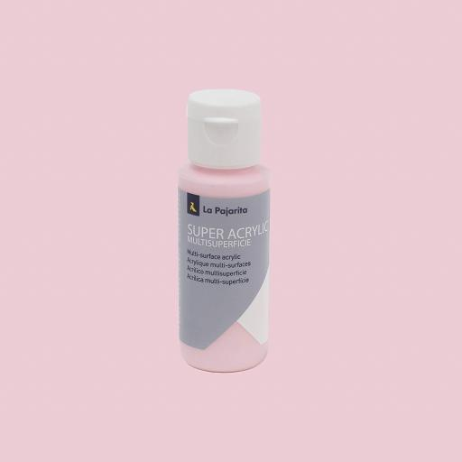 PINTURA LA PAJARITA SUPER ACRYLIC COLOR ROSA BEBE 60ML