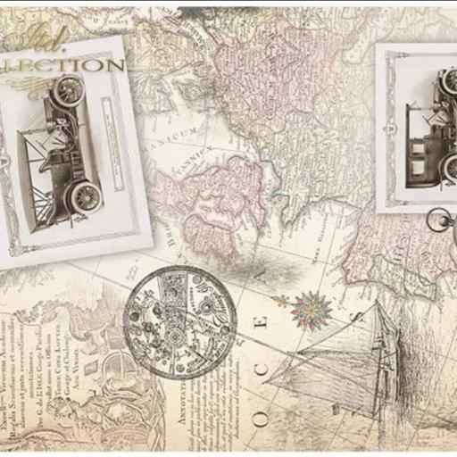 PAPEL DE ARROZ DECOUPAGE LIMITED EDITION TAMAÑO A3 REF.: ITD R0035L