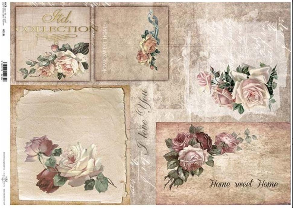 PAPEL DE ARROZ DECOUPAGE LIMITED COLLECTION  TAMAÑO  A3  REF.: R0013L