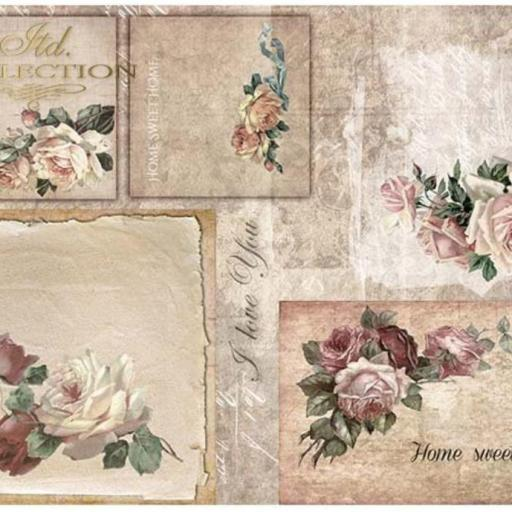 PAPEL DE ARROZ DECOUPAGE LIMITED COLLECTION  TAMAÑO  A3  REF.: R0013L  [0]
