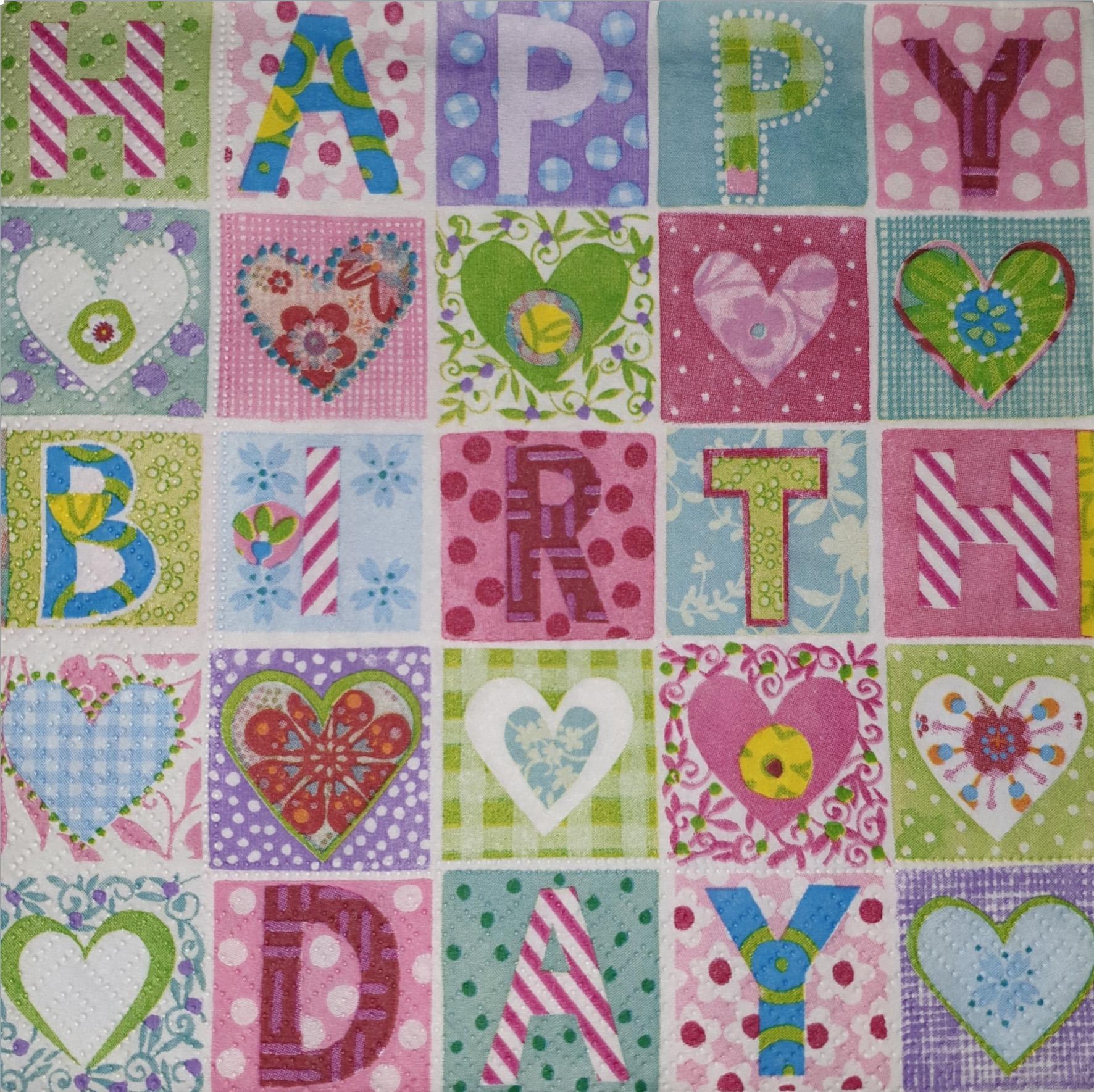 SERVILLETA HAPPY BIRTHDAY