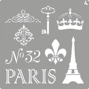 STENCIL ST06 PARIS LA PAJARITA