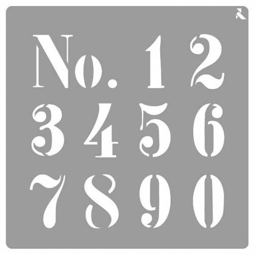 STENCIL ST25 NUMBERS LA PAJARITA  [0]