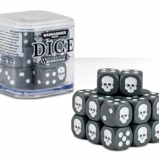 WARHAMMER DICE CUBE GRIS 12MM