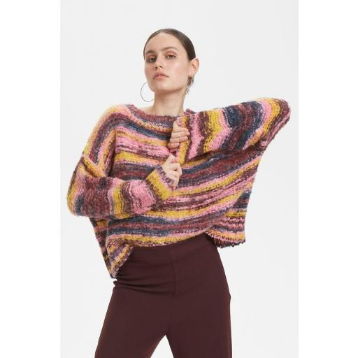 DENIM HUNTER MODELO DHARIA KNIT PULLOVER REFERENCIA 10702521 COLOR 36042 MULTI COLOUR