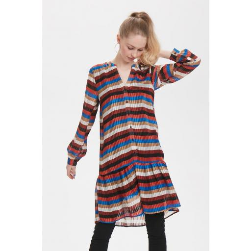 DENIM HUNTER MODELO DHSTRY DRESS REFERENCIA 10702565 COLOR 36042 MULTI COLOUR STRIPES