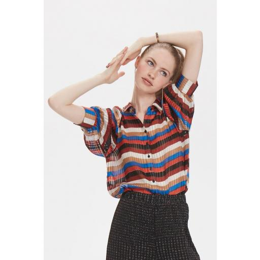 DENIM HUNTER MODELO DHSTRY BLOUSE REF 10702566 COLOR 36042 MULTICOLOR STRIPES