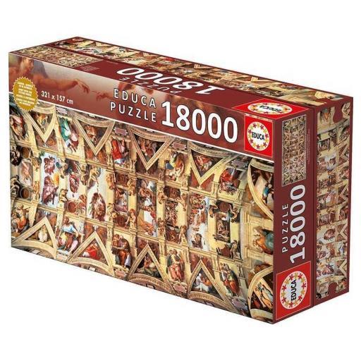 EDUCA BORRAS CAPILLA SIXTINA PUZZLE  REF: 16065  18000 PIEZAS   [0]