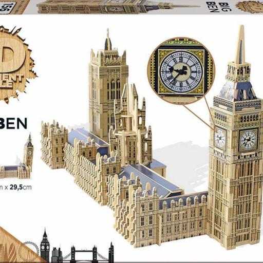 PUZZLE 3D SCULPTURE  BIG BEN AND THE HOUSES OF PARLAMENT LONDON  [1]