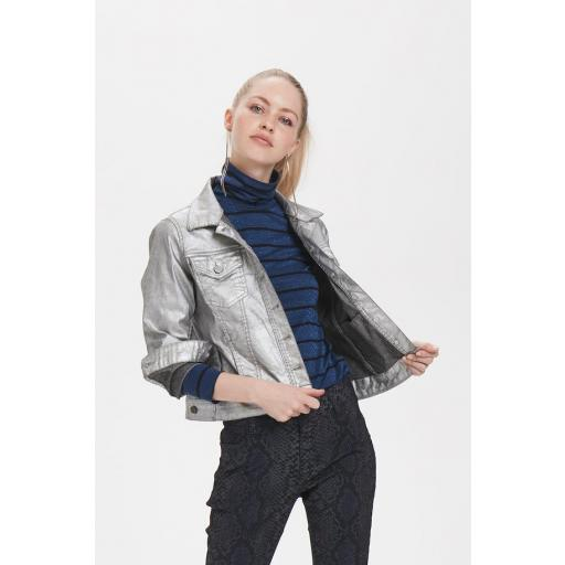 DENIM HUNTER MODELO DHJESS GLITTER JACKET REFERENCIA 10702626 COLOUR 30049 SILVER