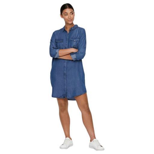 VERO MODA VMSILLA LS SHORT DRESS MB NOOS GA COLOR MEDIUM BLUE DENIM REF10218477 [2]