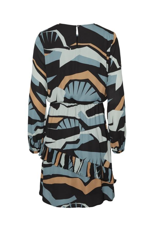 VERO MODA VM AFINA LS SHORT DRESS WVN COLOR NORTH ATLANTIC AFINA REF 10222044